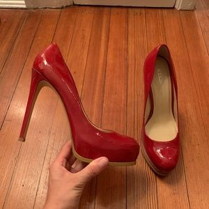 Red Kelsi Dagger Patent Leather Pumps